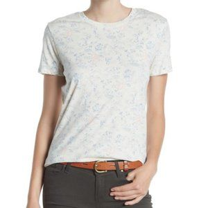 Lucky Brand All Over Floral Tee T-Shirt Top Large